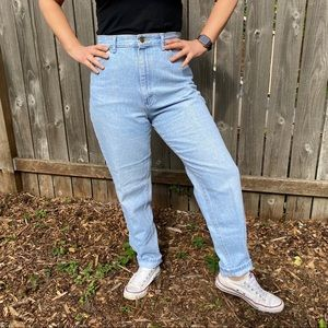 """Classic High Waisted """"Mom"""" Jeans"""